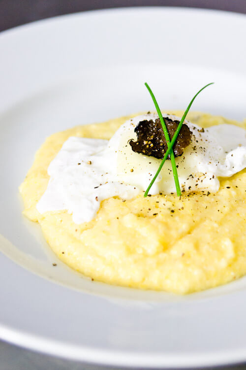 Black Truffle and Cheese Grits